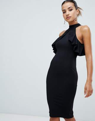 AX Paris racer neck midi dress