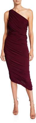 Norma Kamali Diana 1-Shoulder Stretch Dress