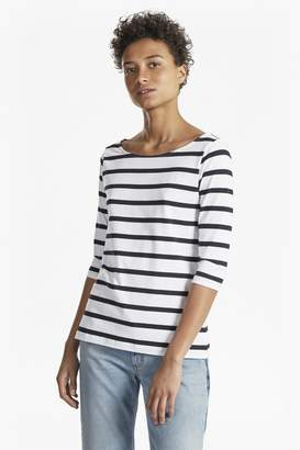 74700c838a3f29 French Connection Tim Tim Stripe 3 4 Length Sleeve Top