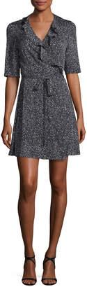 Diane von Furstenberg Savilla Ruffle-Trim Silk Jersey Wrap Dress