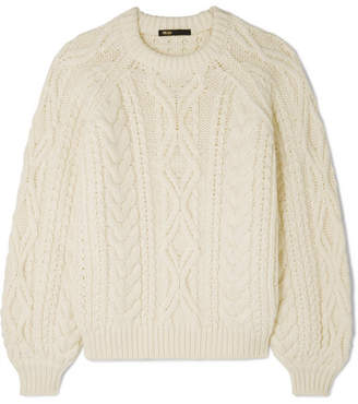 Maje Cable-knit Sweater - Ecru
