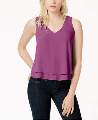 Bar III Layered-Hem Tank Top, Created for Macy's