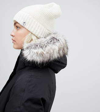 The North Face Womens Purrl Stitch Beanie Hat in White