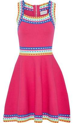 Milly Paneled Knitted Mini Dress