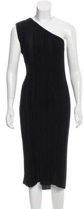 Tome One-Shoulder Plisse Dress