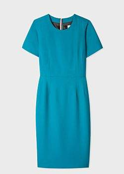 Women's Turquoise Wool-Twill 'A Dress To Travel In'