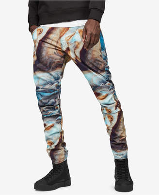 G Star Men's 5622 3D Elwood Tapered Fit Printed Jeans