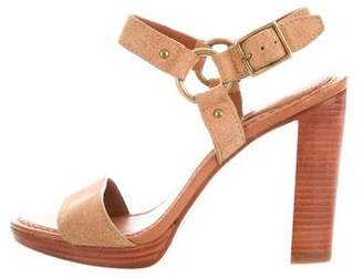 Frye Suede Ankle-Strap Sandals