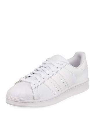 adidas Men's Superstar Foundation Leather Sneakers, White