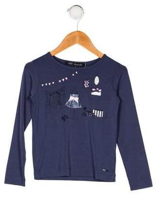 Lili Gaufrette Girls' Printed Long Sleeve Top w/ Tags