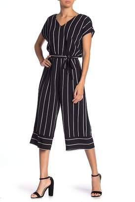 Como Vintage Stripe Belted Jumpsuit