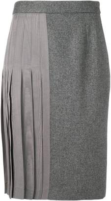 Thom Browne half-pleated skirt