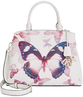 DKNY Paige Medium Leather Butterfly Satchel