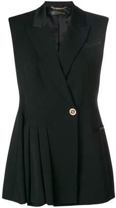 Versace pleated tailored vest