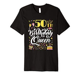 50th Birthday Queen T Shirt Fifty Years Old Gifts Women