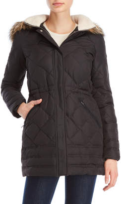 Lauren Ralph Lauren Faux Fur Trim Hooded Down Coat