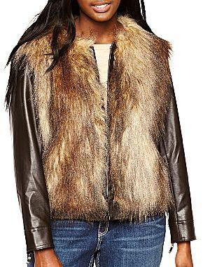 JCPenney Bisou Bisou® Faux Fur Coat - Plus