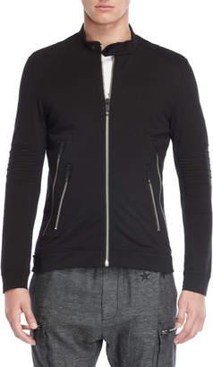 Antony Morato Black Full-Zip Knit Jacket