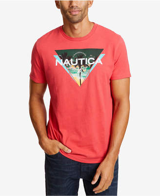 Nautica Men Triangle Logo Graphic T-Shirt