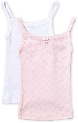 Rene Rofe Toddler Girls) Two-Pack Pointelle Heart Cami Tanks