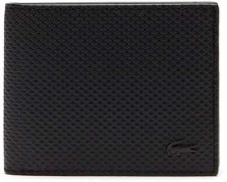 Lacoste Men's Chantaco Monochrome Coated Leather Flat Wallet