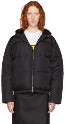 Prada Black Short Zip Puffer Jacket