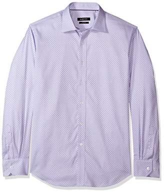 Bugatchi Men's Slim Fit Tonal Jacquard Point Collar Shirt