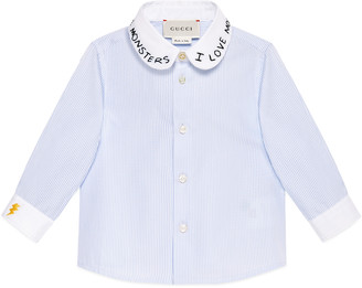 Baby cotton shirt with embroidery $295 thestylecure.com