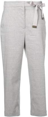 Peserico tie-side cropped trousers
