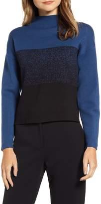 Anne Klein Ombre Funnel Neck Sweater