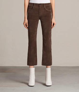 AllSaints Heidi Cropped Velvet Jeans