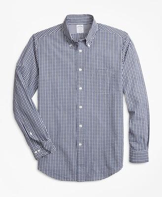 Brooks Brothers Regent Fit Gingham Seersucker Sport Shirt