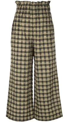 Ganni Charron Gingham Crop Pants