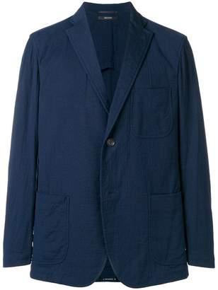 Issey Miyake open collar blazer