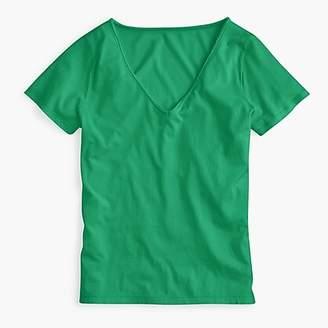 J.Crew Supersoft Supimau0026reg; raw-edge V-neck T-shirt