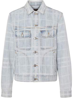 Burberry Bleached Check Denim Jacket