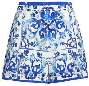 Dolce & Gabbana Printed Cotton-Blend Jacquard Shorts