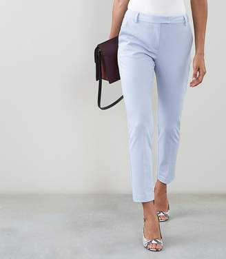 Reiss Joanne - Cropped Tailored Trousers in China Blue