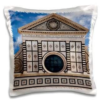 Santa Maria Novella 3dRose church, Florence, Italy - EU16 BJN0091 - Brian Jannsen - Pillow Case, 16 by 16-inch