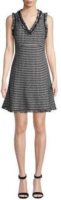 Kate Spade Sleeveless Houndstooth Tweed Mini Dress