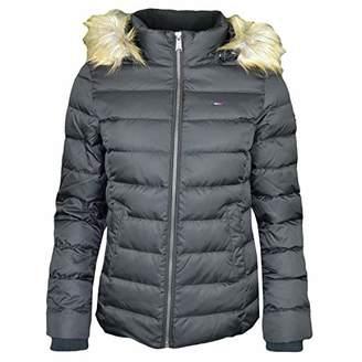 Tommy Hilfiger Tommy Jeans Women's Winter Jacket Down Fill with Faux Fur Hood Black
