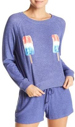 Free Press Hacci Summer Crew Neck Sweatshirt