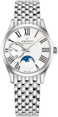 Zenith 03.2310.692/02.m2310 Elite moonphase stainless steel watch