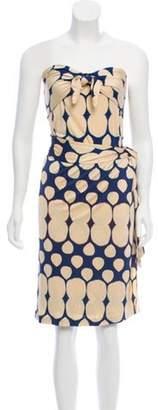 Diane von Furstenberg Polka Dot Silk Dress Blue Polka Dot Silk Dress