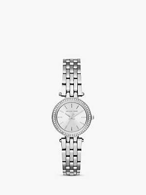 Michael Kors Women's Darci Petite Stainless Steel Crystal Bracelet Strap Watch