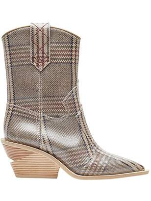 Fendi check cowboy boots