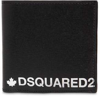 DSQUARED2 Printed Saffiano Leather Billfold Wallet