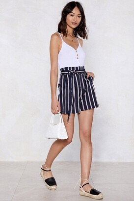 Nasty Gal I Short As Much Striped Shorts