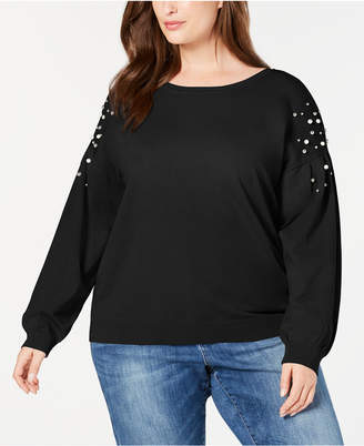INC International Concepts I.n.c. Plus Size Embellished Sweater