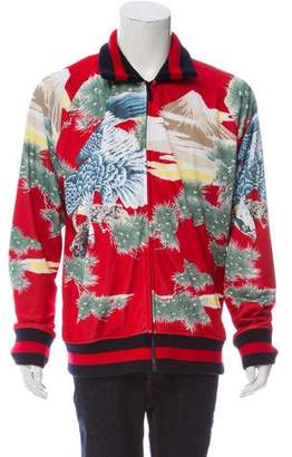 Gucci Eagle Print Bomber Jacket